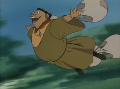 Tuck yrittää lentää kuin lintu