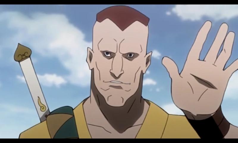 Pitkä, sinisilmäinen punapää haluaisi olla samurai.