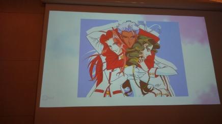 Vaikka Ikuhara Kunihiko -luennolla käsiteltiin naishahmoja, pääsivät miehetkin hieman esittelemään sulojaan.